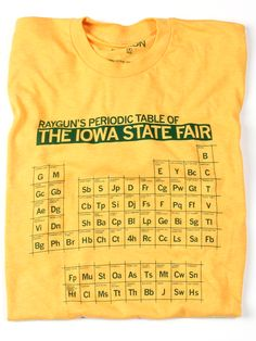 Periodic State Fair 2012 @Sarah Chintomby Chintomby Pember —you need this shirt.
