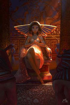 Discover the process behind Aekkarat Sumutchaya's image Cleopatra, where he demonstrates how to achieve dramatic lighting Ancient Egyptian Art, Egyptian Goddess, Isis Goddess, Ancient Aliens, Ancient Greece, Ancient History, Art And Illustration, Art Illustrations, Dramatic Lighting