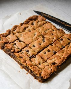 Loaded Malted Chocolate Chip Cookie Bars Recipe — Dishmaps