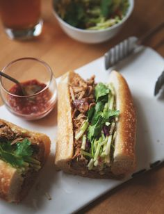 Thai-Style Pulled Pork Bánh Mì / by a Better Happier St. Sebastian