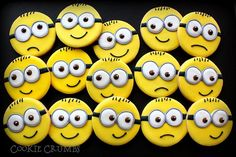 minion cookies~                              by mint_lemonade, via Flickr, yellow, round