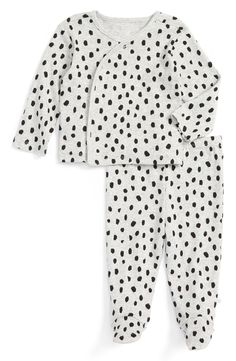Leopard Print Tee & Footed Pants Set (Baby Girls)