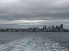 Leaving Seattle crossing Puget Sound