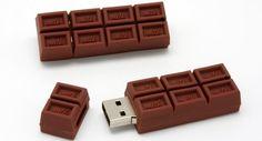 Chocolate-Bar-USB-Flash-Drive #Electronics