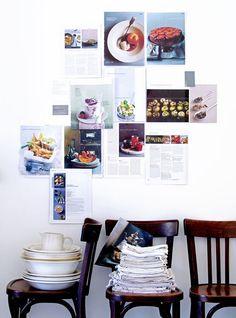 Je favoriete recepten aan de keukenmuur, dan heb je een wel heel smaakvolle inspiratiewand.