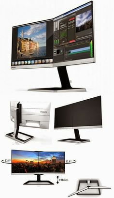 Philips Two-in-One Monitor Fused Seamlessly Beautiful Industrial Interiors, Industrial Design, Tech Gadgets, Cool Gadgets, Trading Desk, Monitor, Modern Tech, Tech Toys, Lofts