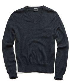 Alpaca/Silk Vneck Sweater in Black