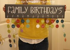 How To Make A Family Birthday Chart!