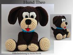 Häkelanleitung,+Hund+Theo,+gehäkelt+-+PDF/+E-book+von+Kunterbunte+Häkeltiere+auf+DaWanda.com