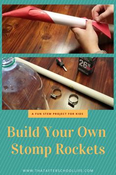 Build your own stomp rocketBuild your own stomp rocket and launcher with cheap items that you may already have on hand. A fun STEM project for kids!Two simple STEM tower challenges! - STEM activities for Stem Projects For Kids, Fun Crafts For Kids, School Projects, Kid Projects, Baby Crafts, Kid Crafts, Space Activities, Activities For Boys, Stem Activities