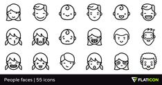 55 free vector icons of People faces designed by Freepik