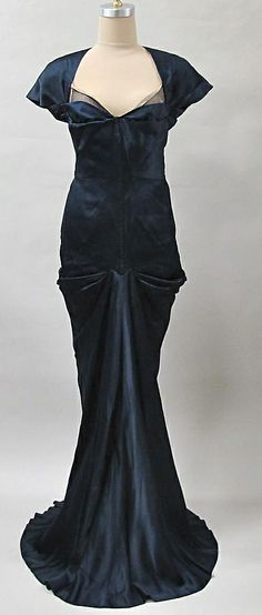 Evening dress, Charles James, ca. 1940, American, silk