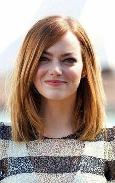 coiffure carré long cheveux roux