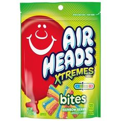 Airheads Xtremes Bites Sweetly Sour Candy Resealable Stand Up Bag, Rainbow Berry, 9 Ounce, Size: 9 fl oz Squishies, Airheads Xtremes, Sour Belts, Candy Drawing, Rainbow Candy, Sour Candy, Candy Party, Party Favors, Candy Recipes