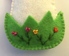 Feltro di Pasqua pollo ornamenti di Pasqua pollo di TanyaofSweden