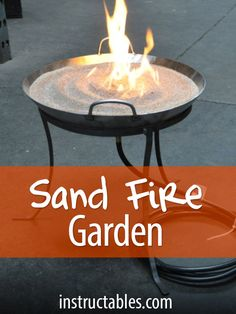 Build your own Zen Fire Garden and enjoy the hypnotic combination of sand and fire every day, in your own backyard.