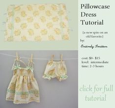 Cute pillowcase dress tutorial