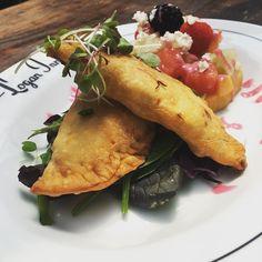 with fresh fruit salad Fresh Fruit Salad, Empanadas, Logan, Summertime, Restaurant, Ethnic Recipes, Food, Diner Restaurant, Essen