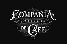 Compañía Mexicana de Café designed by Tobias Saul. the global community for designers and creative professionals. Logo Design Trends, Logo Design Inspiration, Design Logos, Design Art, Vintage Typography, Typography Fonts, Design Fonte, Calligraphy Text, Hand Drawn Logo