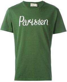Maison Kitsuné Parisien print T-shirt | FARFETCH saved by #ShoppingIS