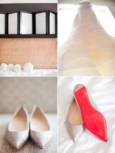 Megan & Andrew's wedding at the St. Regis by Details Details   Details Details - Wedding and Event Planning, wedding shoes, christian louboutin,  vera wang, wedding dresses, white, bouquet