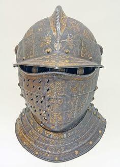 Close Helmet with Falling Buffe, c. 1590-1595