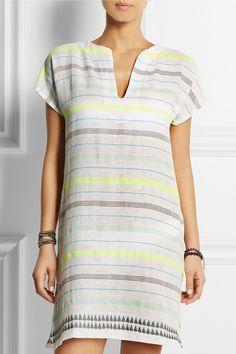LemLem|Lelaga striped cotton-blend gauze tunic|NET-A-PORTER.COM