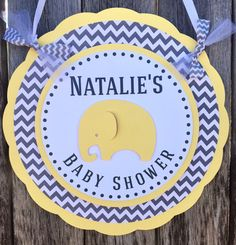 Elephant Baby Shower Decorations - Welcome Door Sign - Gender Neutral Baby Shower  - It's a Boy Baby Shower - Little Peanut