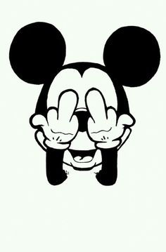 Mickey gives both fingers!