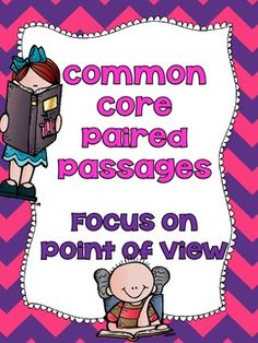Common Core Paired Passages for 4th and 5th Grade