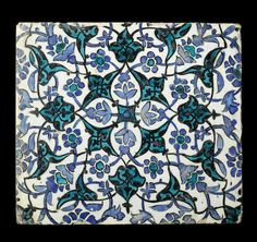 A large Damascus underglaze-painted pottery Tile Syria, 16th/ 17th Century. US$ 1,500 - 2,300