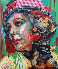 """Artist : Arnaud Bauville """"LA CONVALESCENTE """" 100 x 120 cm (39,4 inches x 47,2 inches )"""