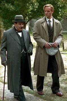 David Suchet and Rupert Penry-Jones in Poirot