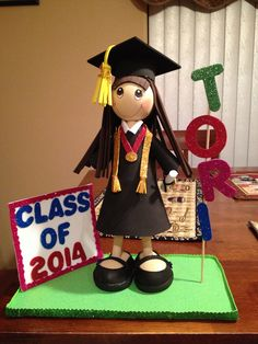 Graduation fofucha doll.