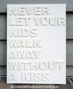 Absolutely...I kiss them every single time.