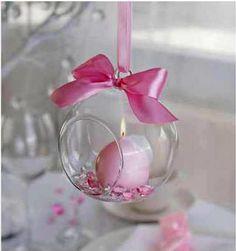 Nydelig hengende lysholder i glass - 10 cm - 4 stk - Til Bryllupet My Glass, Glass Ball, Krystal, Decoration, Confetti, Candle Holders, Candles, Inspiration, Christmas