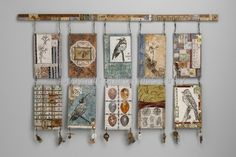Mixed Media-Sharon McCartney: Try to Win Esteem - love the way Sharon hung these!