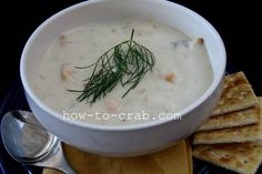A rich and creamy Dungeness crab soup recipe.