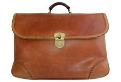 Midcentury French Leather Attaché Case