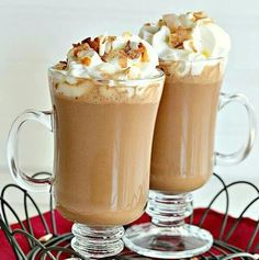 Coconut Cream Carmel Hot Chocolate
