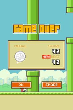 I did great I <3 flappy bird