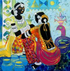 Acrylic on Canvas by Anuradha Thakur shiranirajapakse.wordpress.com, facebook.com/shiranirajapakseauthor/, @shiraniraj