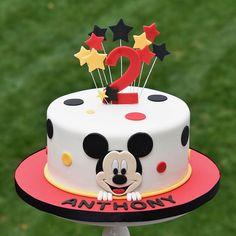 2 Year Old Birthday Cake, Boys First Birthday Cake, Mickey Mouse Birthday Cake, Mickey Mouse Cupcakes, Mickey Cakes, Baby Birthday Cakes, Happy 2nd Birthday, Disney Birthday, Minnie Mouse