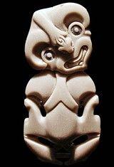 Traditional Maori Tiki Pendant. Musee du Quai Branly, Paris.