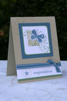 congrats butterfly using Stampin Up Priceless stamp set