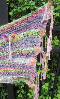 rustic handknit wool prayer wrap/shawl/scarf by beautifulplace