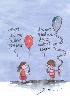 funny...but true {abnormal sperm morphology}