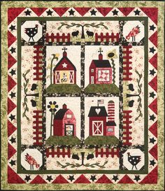 Nice quilt. These Barns have Country Charm.  I would change the colors to more dull colors.