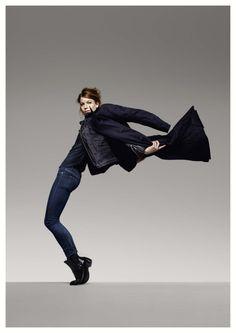 Flexible Airy Denim pants I G-Star RAW A/W '13 campaign