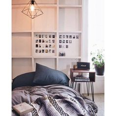 The blanket folded on the bed is amazing - simple but still fits with the style.